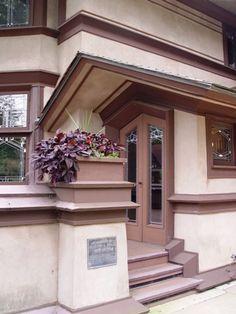 Exterior door of the B. Harley Bradley House (Kankakee, IL)