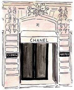 Chanel Storefront sketch