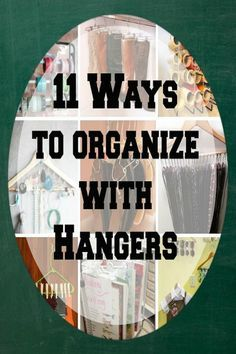 11 ways to organize with hangers