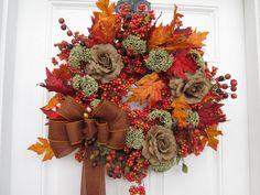 SEASONAL BERRY WREATH  Seasonal Berry/Fall by AutumnsEchoShoppe