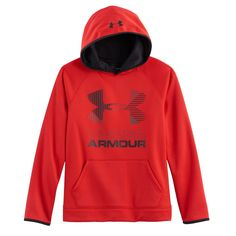 Boys 8-20 Under Armour Fleece Pull-Over Hoodie, Size: Medium, Red