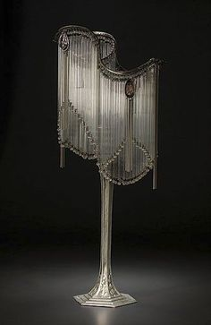 Hector Guimard, Art Nouveau Table Lamp, French, 20th century