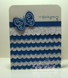 Kelly Rose, Independent Stampin' Up! Demonstrator: Stampin' Up! Flower Fest Butterfly and Ruffles Card