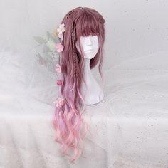 Sweet Harajuku Original Violet Peach Lolita Wigs YS103A