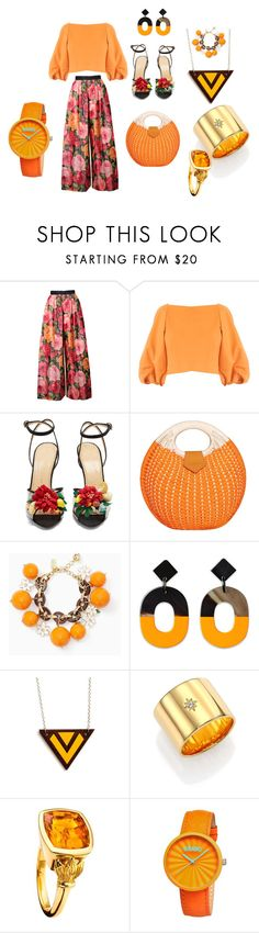 """""""SPRING INTO SOME WIDE LEGS"""" by debbie-l-garrison ❤ liked on Polyvore featuring Bill Blass, TIBI, Charlotte Olympia, Kate Spade, Elizabeth and James, Cassandra Goad and Crayo"""