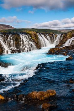 Bruarfoss, Iceland surely is the land of waterfalls. Find cheep flights to Iceland with WOW air and visit a few of them (wowair.com). #iceland #nature #waterfalls #wowair #travel
