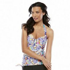 Croft and Barrow Fit For You Tummy Slimmer Halterkini Top - Women's
