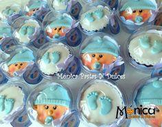 Cupcakes de baby Shower, para niño, elaborado por MONICA PASTAS Y DULCES