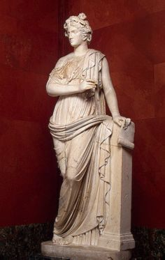 Clio, Muse of History, 2nd century.  Roman copy from a Greek original, the Hermitage Museum.