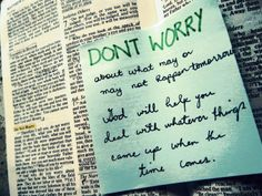 sticky notes inside your Bible for reminders that stand out.....clever idea!