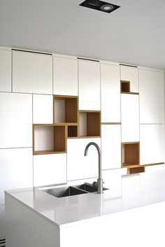 cabinetry - with open space to room behind