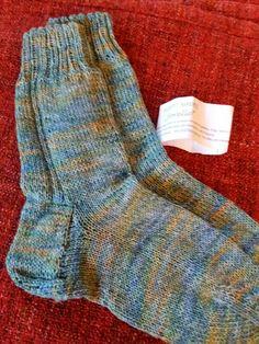 Socken aus handgefärbter Wolle - die Forelle von Sabine Löbbert-Sudmann Brown Trout