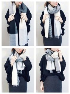 Ways To Tie Scarves, Ways To Wear A Scarf, How To Wear Scarves, How To Wear White Jeans, Barbie Wardrobe, Scarf Knots, Korean Girl Fashion, White Scarves, Scarf Dress