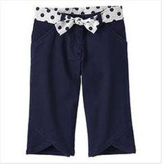 Girls GYMBOREE Parisian Rose Navy Capri Pants 5  NWT #Gymboree #CapriCropped #Everyday