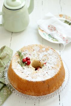 Christmas Angel Food Cake going to make for xmas sense Tanya likes sponge cake Im going to use xmas sprinkles instead of dry candied fruit. Christmas Sweets, Noel Christmas, Christmas Kitchen, Xmas, Mince Pies, Cake Recipes, Dessert Recipes, Angel Food Cake, Angel Cake