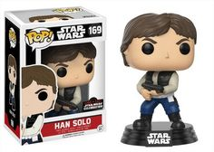 Star Wars: Han Solo action pose with blaster Pop figure by Funko, Star Wars Celebration Orlando 2017 exclusive
