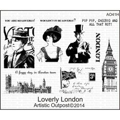 """Loverly London - Artistic Outpost Cling Stamp Set 9""""X7"""""""
