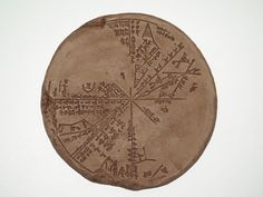 """Sumerian star map or plaisphere ca 650 BC (""""computer analysis has matched it with the sky above Mesopotamia in 3300BC and proves it to be of much more ancient Sumerian origin."""" )"""