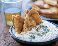 White Bean Dip with Pita Chips by Giada De Laurentiis | GiadaWeekly.com