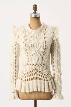 Bobbled Cableknit Sweater - anthropologie.com