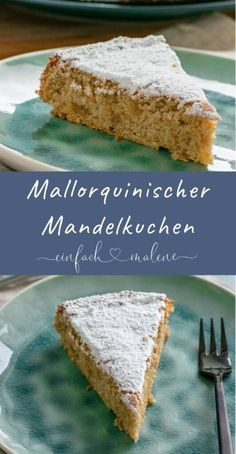 The secret to the incredibly juicy & light Mallorcan almond cake . - The secret to the incredibly juicy & light Mallorcan almond cake without flour is egg whites. This makes the almond cake particularly fluffy and it tastes so delicious of marzipan! Healthy Dessert Recipes, Smoothie Recipes, Baking Recipes, Cookie Recipes, Pastry Recipes, Smoothies, Almond Cakes, Fabulous Foods, Holiday Desserts