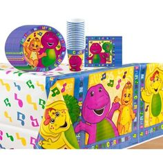Barney Party Kit for 16 Guests by Amscan, http://www.amazon.com/dp/B005T4YXAK/ref=cm_sw_r_pi_dp_UB9orb08DC12K