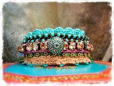 Crochet INDIE cuff Darling BRACELET Fairy friendship by GPyoga, $89.00