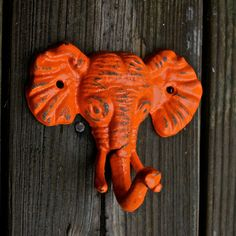 Add some cute accents with this elephant wall hook from #Etsy.