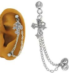 Amazon.com: Ear Cartilage Piercing Jewelry Cross 16G: Jewelry