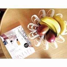 Petals decorative fruit bowl - White www.beandliv.com #finnishdesign #fruitbowl #tableware Photo by @millashverdag