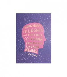 """""""Think Happy Thoughts"""" Print"""