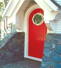 nautical door with porthole, stonework, just beautiful! Character, it's what my home needs!