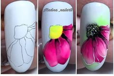 Heat Up Your Life with Some Stunning Summer Nail Art Spring Nail Art, Nail Designs Spring, Gel Nail Designs, Spring Nails, Summer Nails, Art Tutorial, Tutorial Nails, Make Up Geek, Violet Pastel