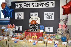 NBA/Basketball themed 7th Birthday party |