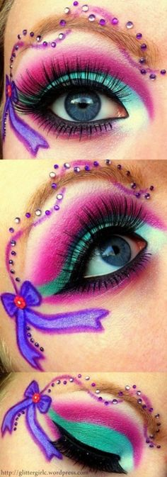 i think i'm going to do this for meltdown. minus the ribbon/eyebrow stuff, and change the purple to pink!