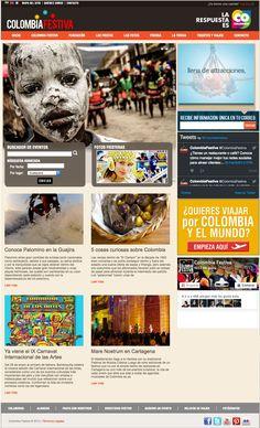 COLOMBIA FESTIVA / Sitio web dedicado a las celebraciones en Colombia. Nominado al premio Lápiz de Acero en el 2013 Categoría: Diseño Web