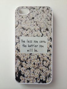 Less You Care, Happier You Will Be Daisies iPhone Case