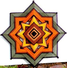 Harvest Moon (12 inch yarn mandala / god's eye/ ojo de dios )