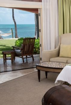 This is how close the suites are to the beach at Old Bahama Bay - wake up and walk outside! (Grand Bahama Island)