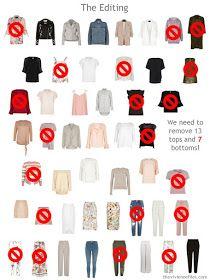 editing a 50-piece wardrobe down to 30 pieces