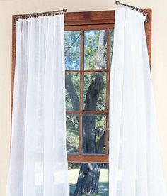 Country Curtains' Cotton Voile Looped Tab top curtains are perfect for a romantic canopy bed look. #countrycurtains