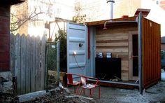 Uma sauna de container