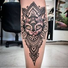 neo traditional Tatuajes de gatitos