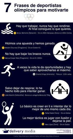 7 frases de deportistas olímpicos españoles para motivarte #infografia