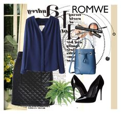 """Romwe 6"" by aida-1999 ❤ liked on Polyvore featuring Dolce&Gabbana, Furla, women's clothing, women, female, woman, misses and juniors"