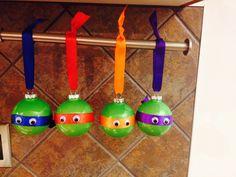 Homemade Ninja Turtle ornaments