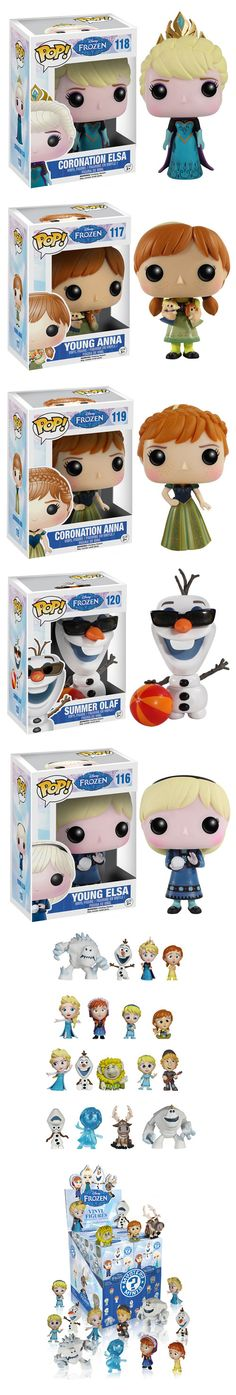 Funko Adds More Frozen Pop Figures No one is ever going to let Frozen go. Ever. You'll be able to get young Elsa and Anna, coronation Elsa and Anna, and a summer version of Olaf (don't worry, it's not a big puddle). They're all as cute as you'd imagine. Besides the normal size figures, Funko's also releasing a series of Mystery Minis. I want to buy the entire box of them! Read more at http://nerdapproved.com/toys/funko-adds-more-frozen-pop-figures/#0Z3Rq7JKbgRc4p02.99