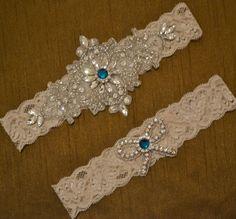 Rhinestone Wedding Garter Set Elegant Bridal by SpecialTouchBridal, $35.99