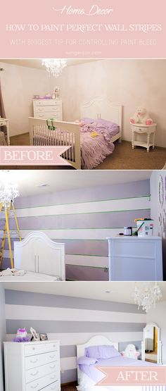 tutorial on how to paint wall stripes without paint bleed in less than three hours with amazing tips and tricks from sengerson.com.