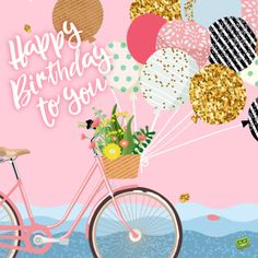 Gorgeous birthday image for messages and emails. Happy Birthday Art, Happy Birthday Wishes Cards, Birthday Blessings, Happy Birthday Beautiful, Happy Birthday Pictures, Best Birthday Wishes, Birthday Wishes Quotes, Vintage Birthday, Birthday Cards